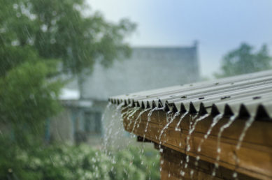 Heavy Rainfall On A Roof